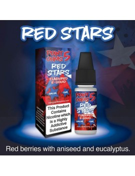 10 ml Red Stars e-liquid...