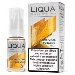 10 ML TRADITIONAL TOBACCO E LIQUID BY LIQUA IRELAND
